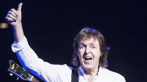 Sir Paul McCartney performs during his Out There tour at the Budokan Arena in Tokyo (MPL Communications/PA)