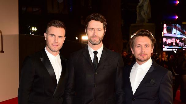 Take That - Gary Barlow, Howard Donald and Mark Owen - have been having fun on tour
