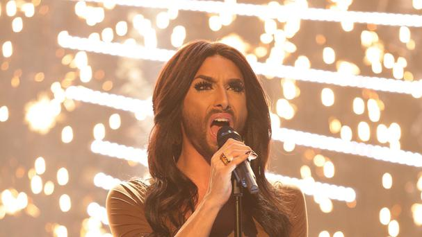 Conchita Wurst performed in tonight's Eurovision semi-final
