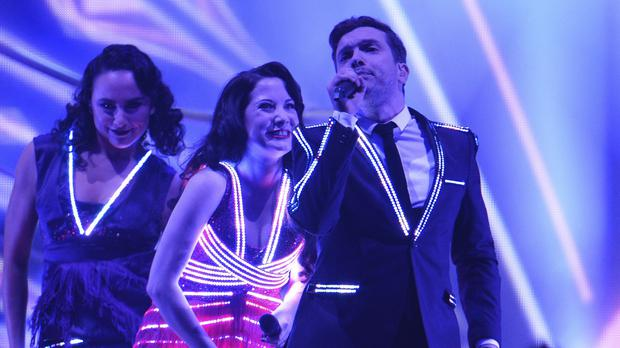 Electro Velvet are representing the United Kingdom at the Eurovision Song Contest in Vienna (AP)