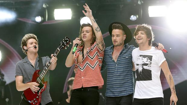 Niall Horan, Harry Styles, Liam Payne and Louis Tomlinson of One Direction during Capital FM's Summertime Ball
