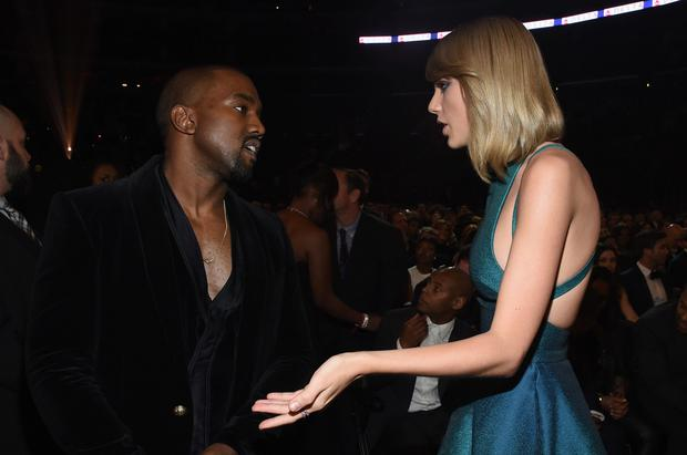 Apology: Taylor Swift and Kanye West at the Grammy Awards this year