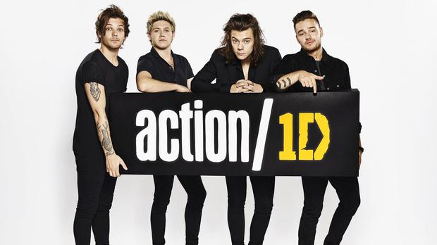 One Direction as they launch their global campaign action/1D (Shamil Tanna/Action 2015/PA)