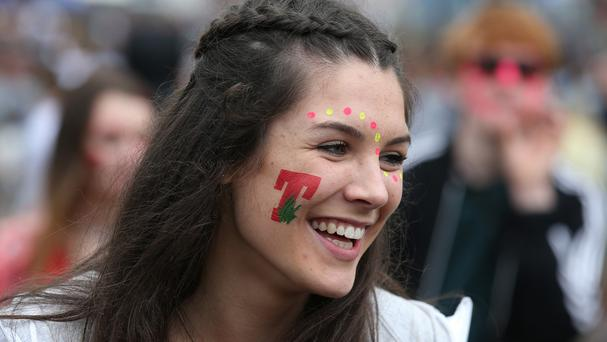 Fans enjoy the first day of T in the Park