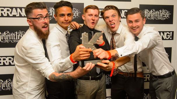 Neck Deep were named best British newcomer at the Kerrang Awards