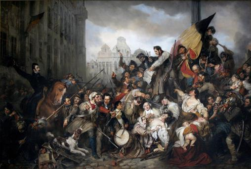 Riot: Episode of the Belgian Revolution of 1830 by Gustaf Wappers (1834)