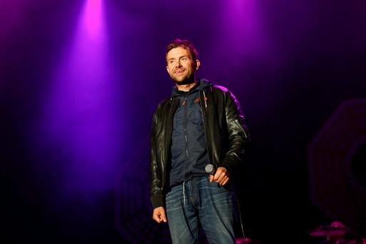 Blur singer Damon Albarn on main stage Electric Picnic. Photo: Conor McCabe Photography