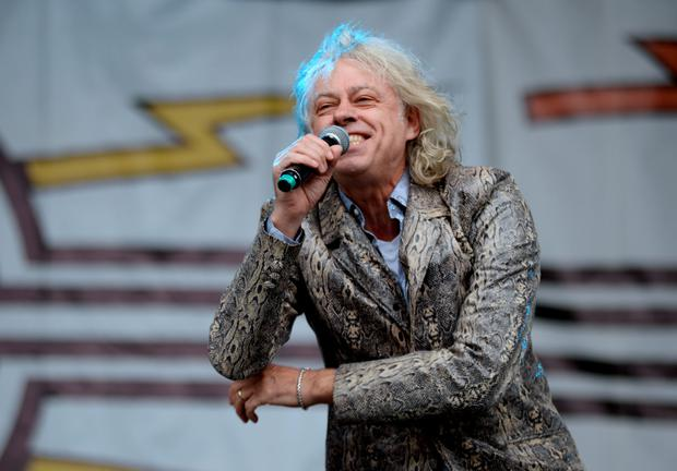 Bob Geldof performs with the Boomtown Rats on main stage. Photo: Caroline Quinn