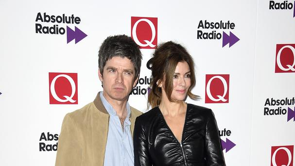 Noel Gallagher and wife Sara MacDonald attend the Q Awards 2015 held at Grosvenor House Hotel on Park Lane, London