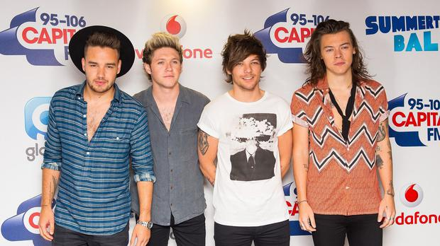 (Left to right) Liam Payne, Niall Horan, Louis Tomlinson and Harry Styles of One Direction