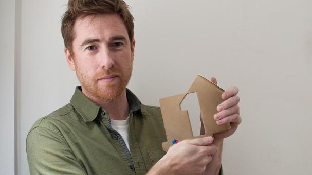 Jamie Lawson with his award (Official Charts.com/PA)