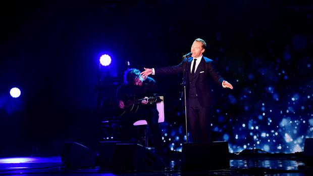 Ronan Keating performs on stage at Global's Make Some Noise gala night in London (Ian West/PA Wire)