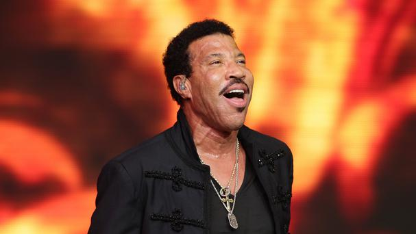 Lionel Richie performing on the Pyramid Stage during the Glastonbury Festival