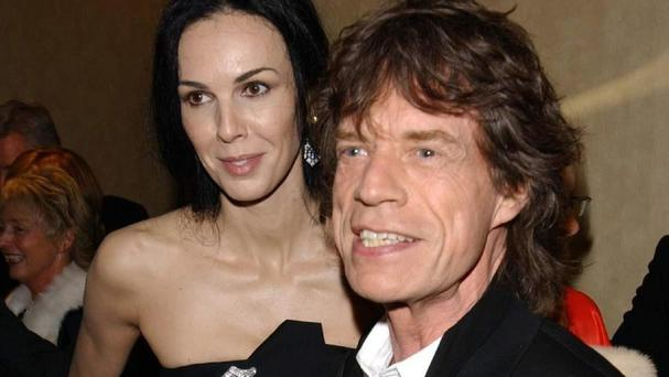 Sir Mick Jagger and his late girlfriend L'Wren Scott