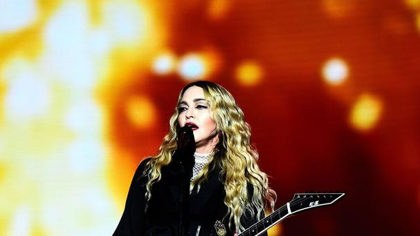 Madonna pictured during her Rebel Heart tour gig in London