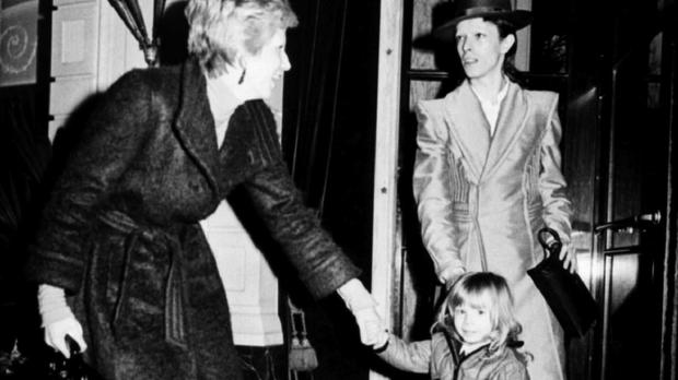 David Bowie with his then-wife Angie and their son Zowie - now Duncan Jones - in the 1970s