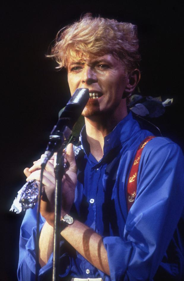 David Bowie in concert in 1983. Photo: Getty