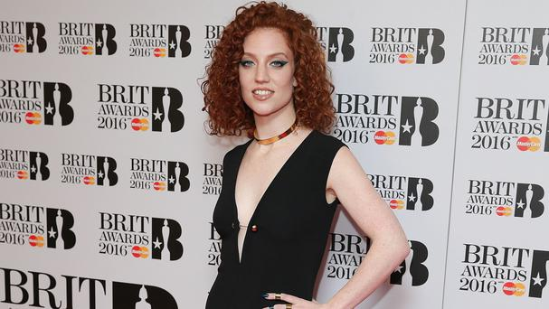 Jess Glynne arriving for the Brit Awards nominations