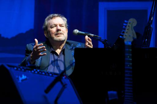 Masterful songwriter: Jimmy Webb performs at Ryman Auditorium in Nashville, Tennessee last June.