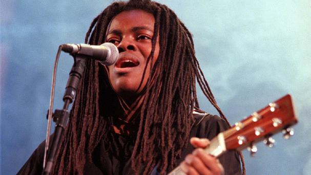 A remix of Tracy Chapman's 1988 hit single Fast Car has stormed into the top three