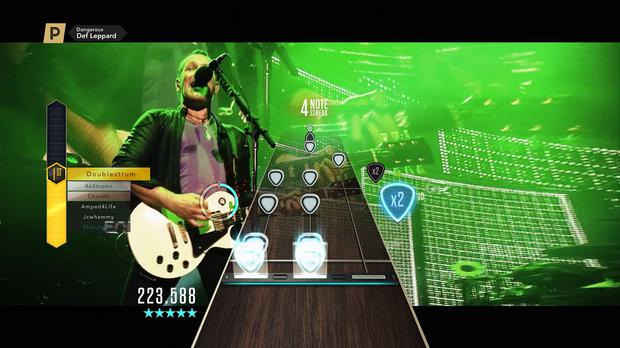 The new music video for Dangerous, by Def Leppard, who are set to become the first music act ever to debut a music video through Guitar Hero. (Activision / PA Wire)