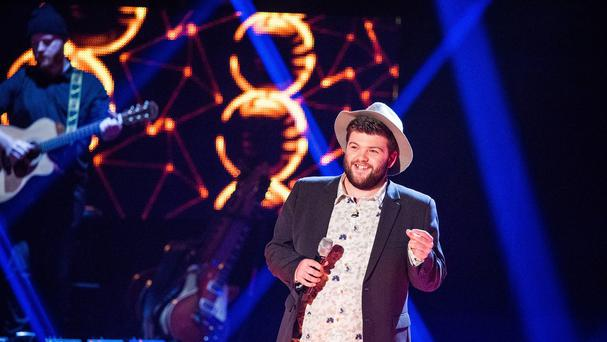 Tobias Robertson on The Voice (Guy Levy/BBC/PA)