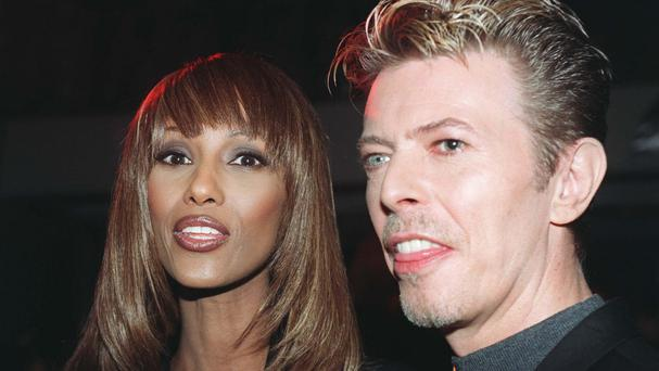 David Bowie with his widow Iman