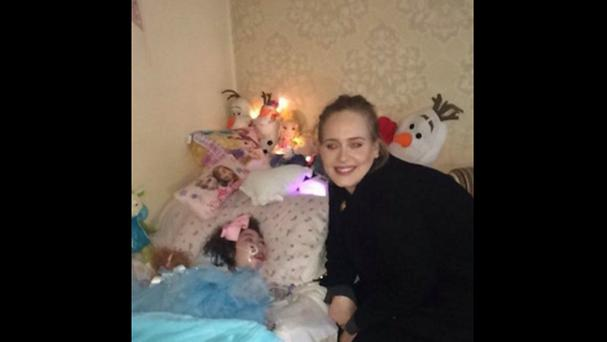 Adele made one young fan's dreams come true when she paid a visit to her bedside ahead of her latest sell out tour gig