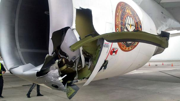Iron Maiden's Ed Force One plane has been damaged in an airport crash which left two people injured