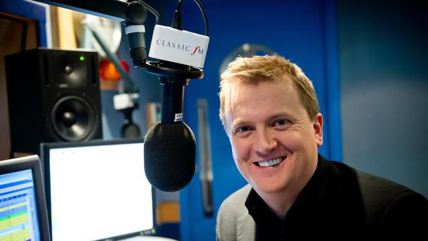 Aled Jones at the Classic FM studios in central London