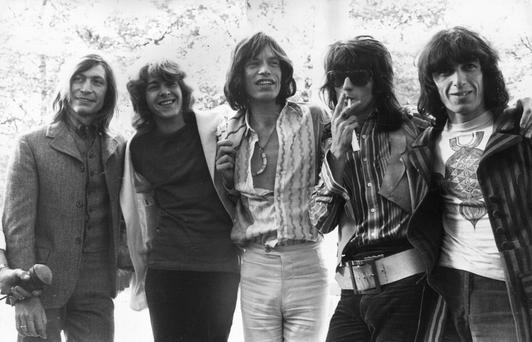 At their peak: The Rolling Stones led the way with Sticky Fingers and Exile on Main Street.