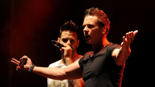 Ritchie Neville and Scott Robinson of band Five