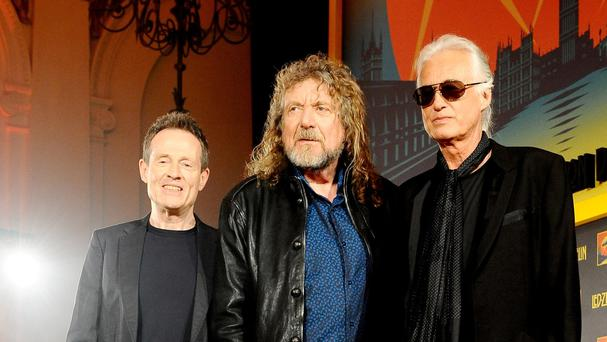 John Paul Jones, Robert Plant and Jimmy Page of Led Zeppelin