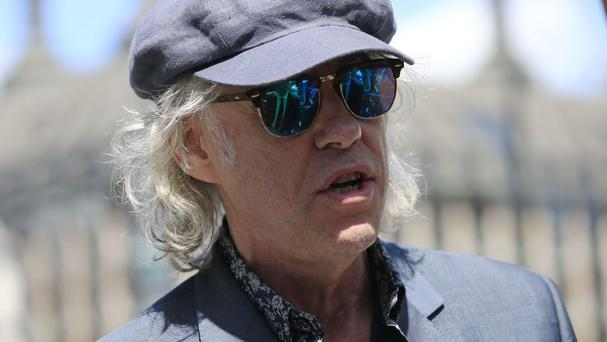 Bob Geldof caused controversy at Brentwood Festival