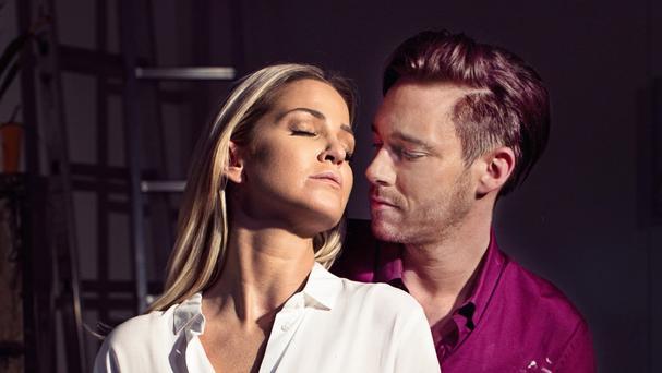 Sarah Harding as Molly and Andrew Moss as Sam in Ghost - The Musical