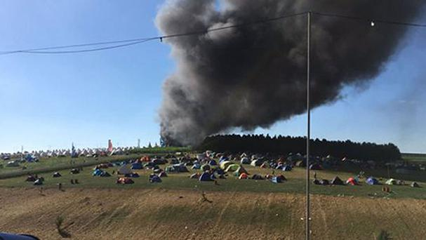 Boomtown Fair: Fire engulfs vehicles in auto park at music festival