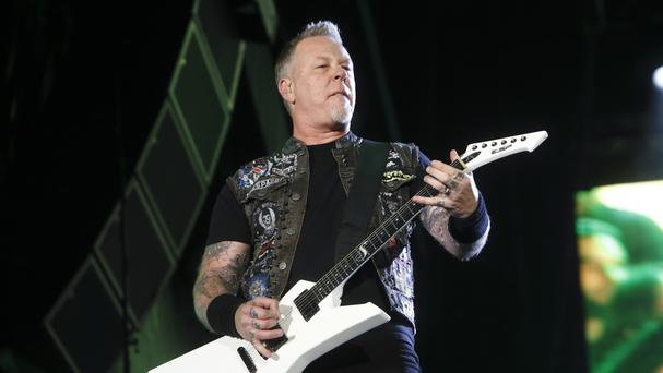 James Hetfield of Metallica performing last year at Rock in Rio USA in Las Vegas (AP)