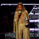 Beyonce accepts the award for best female video for Hold Up (Invision/AP)
