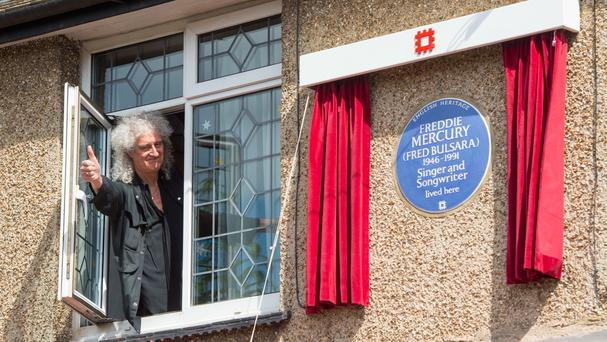 Brian May at the unveiling of the plaque