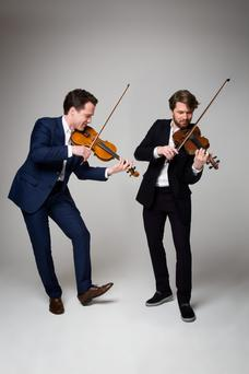 Slovakian violin virtuosos Vladimir (left) and Anton Jablokov
