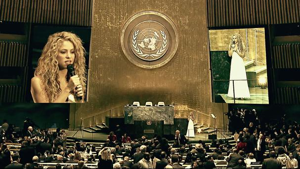 Stars including Shakira have taken part in Unicef's Imagine campaign (Unicef/PA)