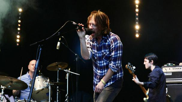 Radiohead performing on the Park Stage at the Glastonbury Festival in 2011