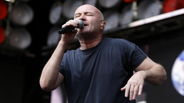 Phil Collins will take to the stage at the Aviva Stadium.