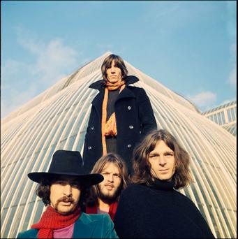 Rich legacy: (clockwise from top) Roger Waters, Rick Wright, David Gilmour and Nick Mason