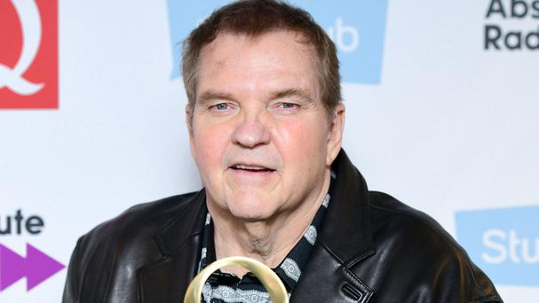 Meat Loaf with the Q Hero Award he was given this week