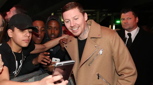 Professor Green, pictured with fans, was among those performing at the Mobos after Tinie Tempah pulled out because of 'music industry politics'