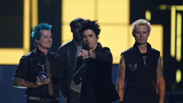 Green Day receive the Global Icon Award, during the MTV European Music Awards 2016, in Rotterdam.
