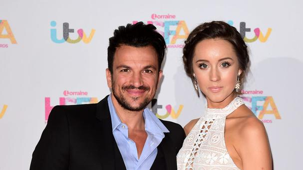 Peter Andre with his wife Emily MacDonagh who has given birth to their son
