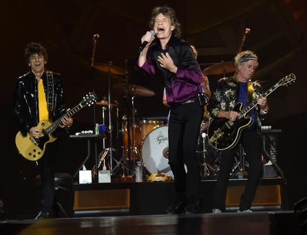 Rolling back the years: The Stones in action in Nashville last year during their Zip Code Tour