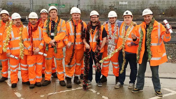 The rail workers behind the Christmas song (Network Rail/PA Wire)